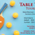 Table Tennis Tournament - Non-M